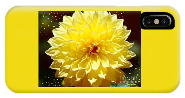Dinner Plate Dahlia In Starry Sky IPhone Case