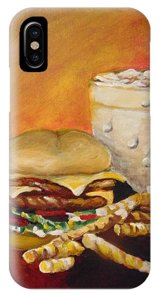 IPhone Case featuring the painting Dinner Time by Saundra Johnson