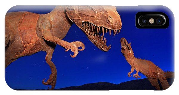 Sam Avery iPhone Case - Dinosaur Battle In Jurassic Park by Sam Antonio Photography