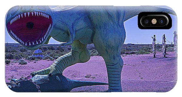 Timeworn iPhone Case - Dinosaur With Kill by Garry Gay