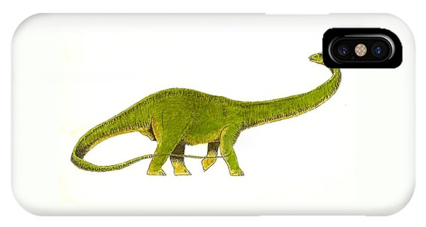 Dinosaur iPhone Case - Diplodocus by Michael Vigliotti