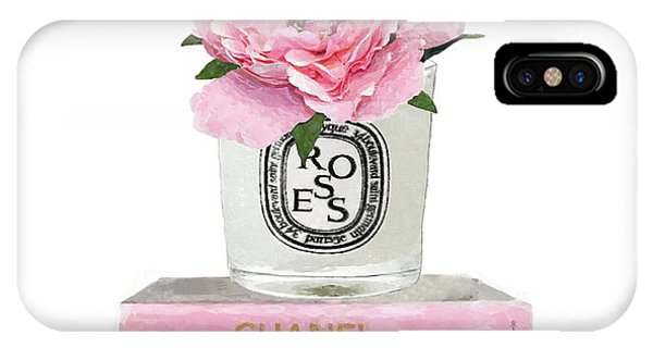 Peony iPhone Case - Diptyque Candle 1 by Green Palace