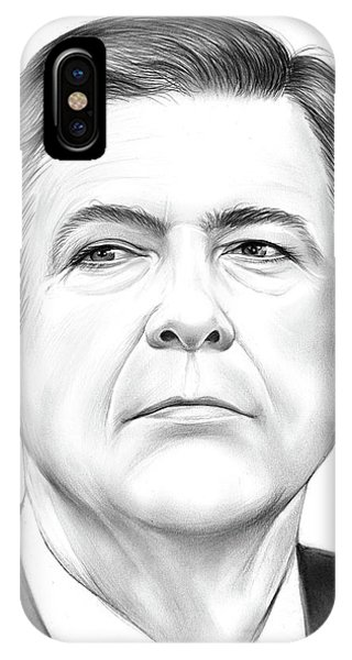 Political iPhone Case - Director Comey by Greg Joens