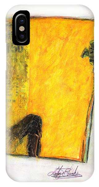 IPhone Case featuring the painting Dirty Slumber Part One by Geraldine Gracia