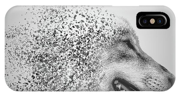 Digital Effect iPhone Case - Disintegrated Wolf by Martin Newman