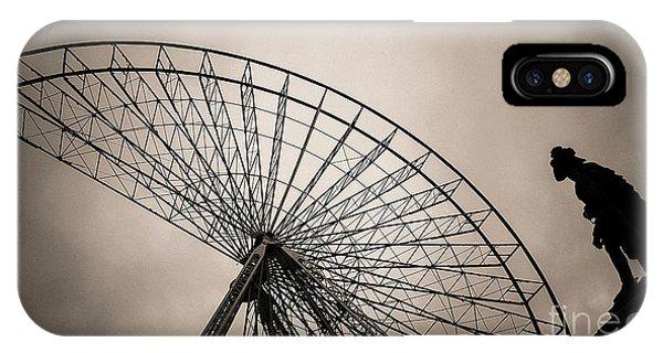 Funfair iPhone Case - Dismantling Of A Ferris Wheel. by Bernard Jaubert