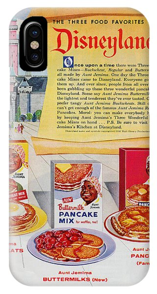 iPhone Case - Disneyland And Aunt Jemima Pancakes  by ReInVintaged