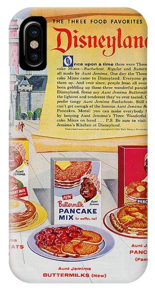 Disneyland And Aunt Jemima Pancakes  IPhone Case