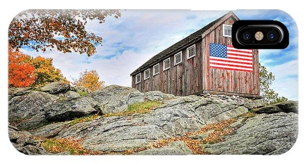 Roxbury iPhone Case - Display Of Colors - Roxbury Barn  by T-S Fine Art Landscape Photography
