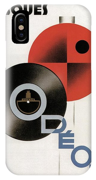 Advertising iPhone Case - Disques Odeon - Vintage Advertising Poster by Studio Grafiikka