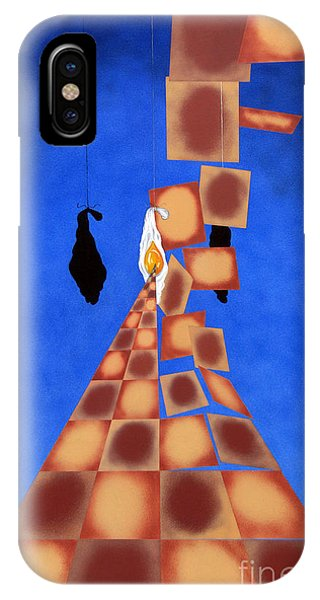 Disrupted Egg Path On Blue IPhone Case
