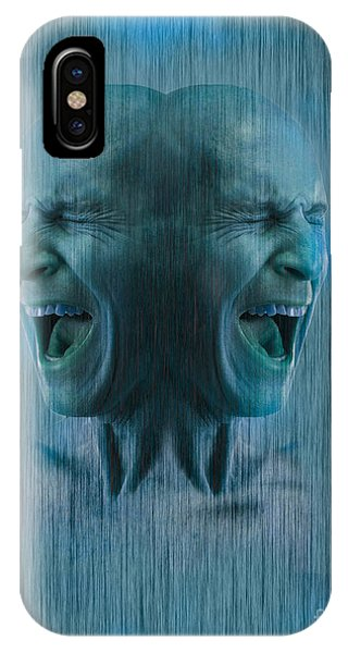 Anguish iPhone Case - Dissociative Identity Disorder by George Mattei