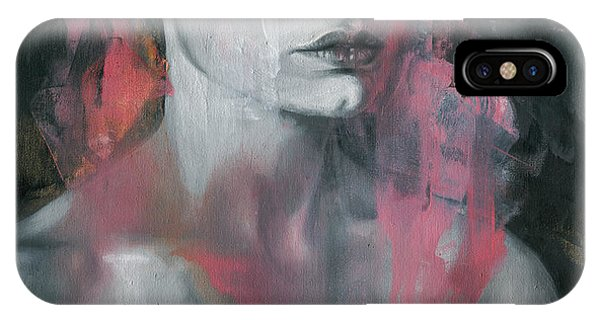 Abstract Figurative iPhone Case - Dissolution by Patricia Ariel