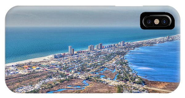 Distant Aerial View Of Gulf Shores IPhone Case