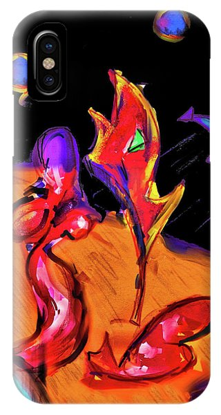 IPhone Case featuring the digital art Distant Crossroads by Robert Henne