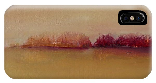 Distant Red Trees IPhone Case