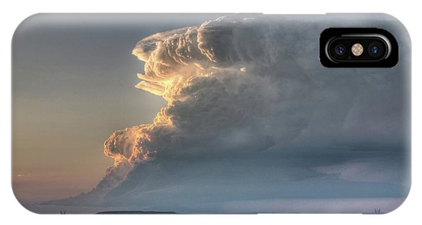 Distant Thunderstorm IPhone Case