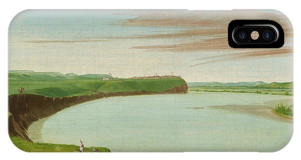 Distant iPhone Case - Distant View Of The Mandan Village by George Catlin