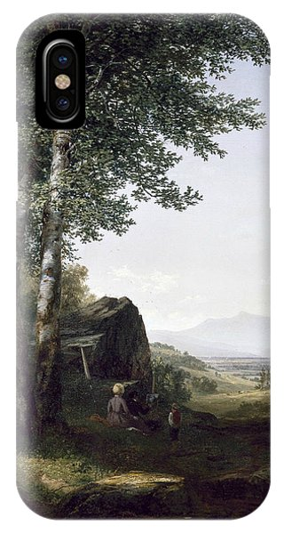 Distant iPhone Case - Distant View Of The Mansfield Mountain Vermont by John Frederick Kensett