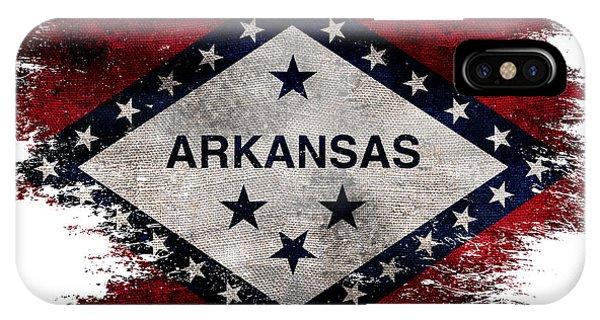 Distressed Arkansas Flag IPhone Case