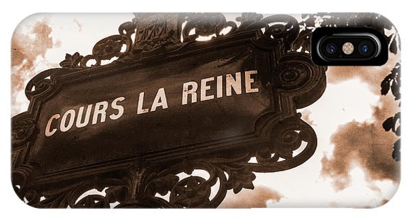 Distressed Parisian Street Sign IPhone Case