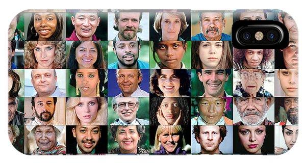 Diversity Faces Mosaic IPhone Case