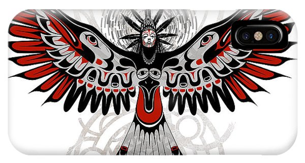 Native iPhone Case - Divine Crow Woman by Sassan Filsoof