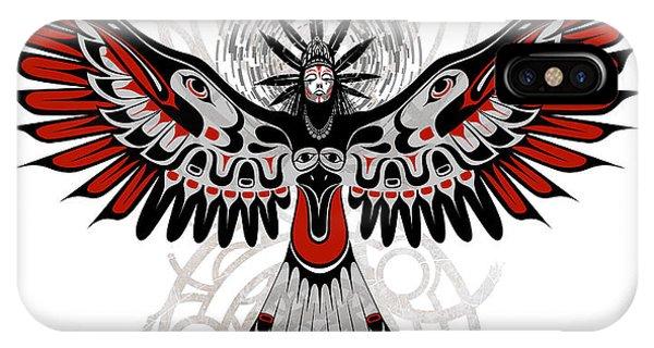 Crow iPhone Case - Divine Crow Woman by Sassan Filsoof