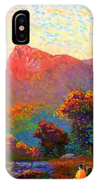 Colourful iPhone Case -  Buddha Meditation, Divine Light by Jane Small