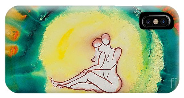 Lgbt iPhone Case - Divine Love Series No. 2086 by Ilisa Millermoon