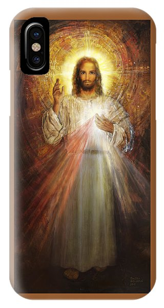 Shrouds iPhone Case - Divine Mercy, Sacred Heart Of Jesus 1 by Terezia Sedlakova Wutzay
