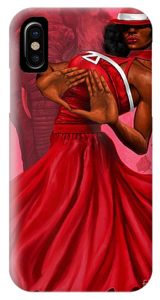 Sister iPhone Case - Divine Red And White by The Art of DionJa'Y