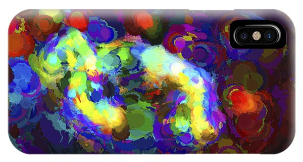 Reef Diving iPhone Case - Diving Abstract by Terry Weaver