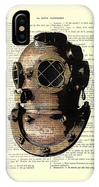 Patent iPhone Case - Diving Helmet by Madame Memento