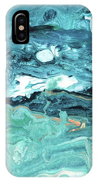 Diving In- Abstract Art By Linda Woods IPhone Case