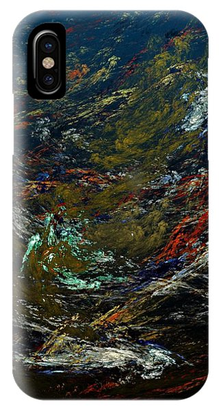Reef Diving iPhone Case - Diving The Reef Series - Sea Floor Abstract by David Lane