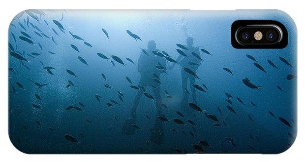 Diving With Fishes IPhone Case