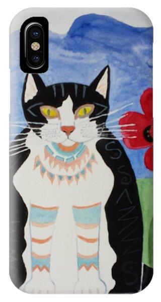 Diwali Tux Cat IPhone Case
