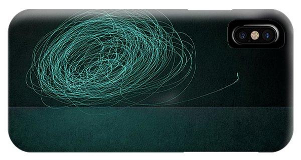 Moon iPhone X Case - Dizzy Moon by Scott Norris