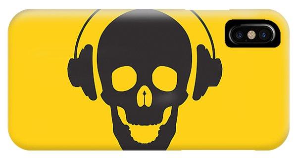 Skull iPhone Case - Dj Skeleton by Pixel Chimp