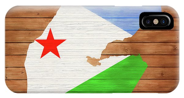 Traveler iPhone Case - Djibouti Rustic Map On Wood by Dan Sproul
