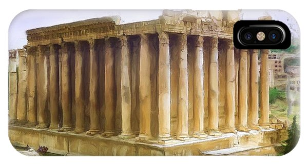 Do-00312 Temple Of Bacchus In Baalbeck IPhone Case