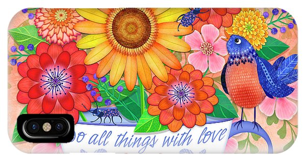 Do All Things With Love IPhone Case
