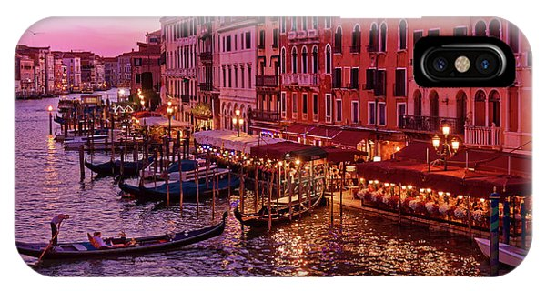 A Cityscape With Vintage Buildings And Gondola - From The Rialto In Venice, Italy IPhone Case