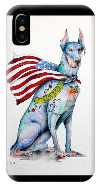 Doberman Napolean IPhone Case