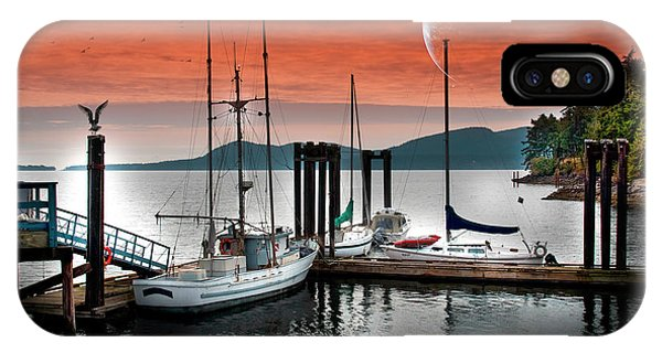Dock And The Moon IPhone Case