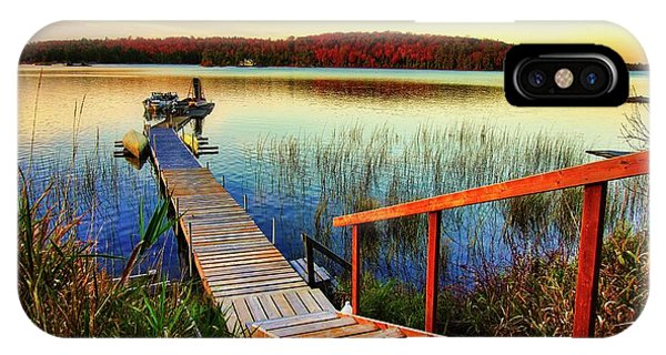 Dock At Gawas Bay IPhone Case