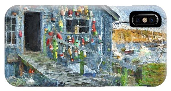 Dock House In Maine II Phone Case by Jon Glaser