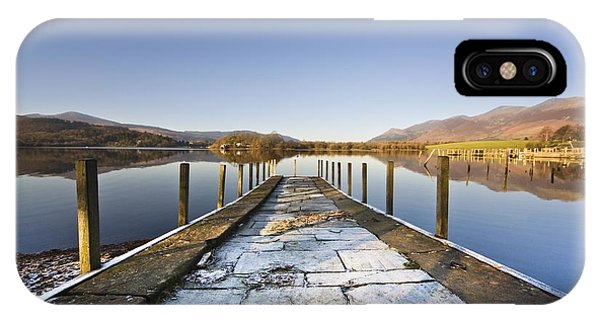 Dock In A Lake, Cumbria, England IPhone Case