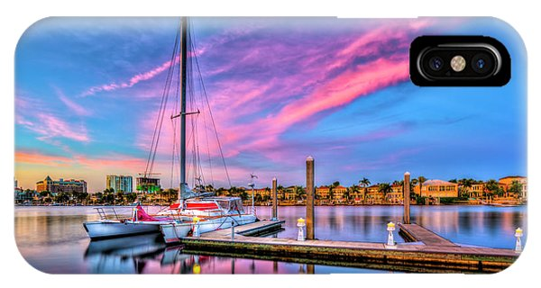 Regatta iPhone Case - Docked At Twilight by Marvin Spates